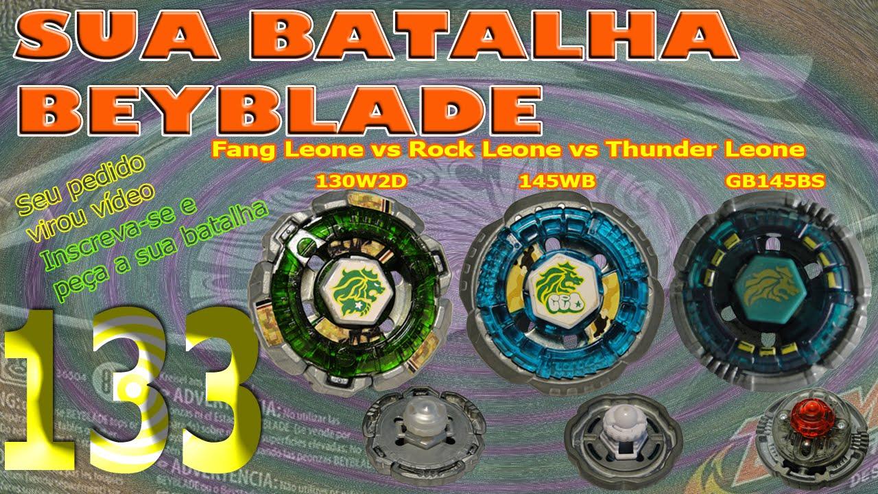 Sua Batalha Beyblade 133 - Fang Leone vs Rock Leone vs ...