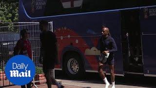 England squad arrive in Kaliningrad for Belgium clash