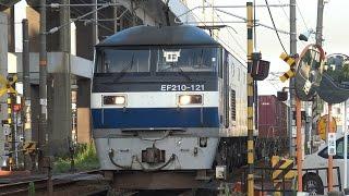 Video 【4K】JR山陽本線 EF210-121号機牽引 2081レ貨物列車 download MP3, 3GP, MP4, WEBM, AVI, FLV Desember 2017