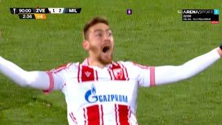 CRVENA ZVEZDA – MILAN 2:2, Milan Pavkov još jednom evropskom prvaku trese mrežu