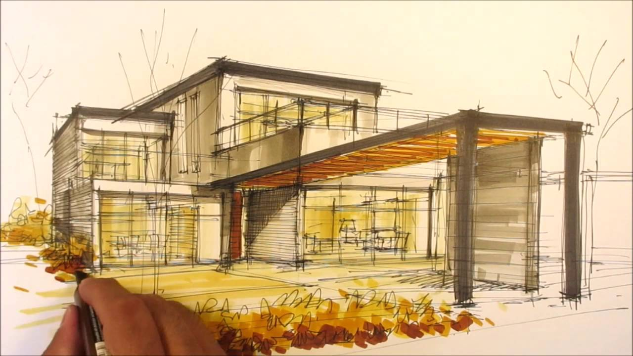 Architectural Sketching House I Youtube