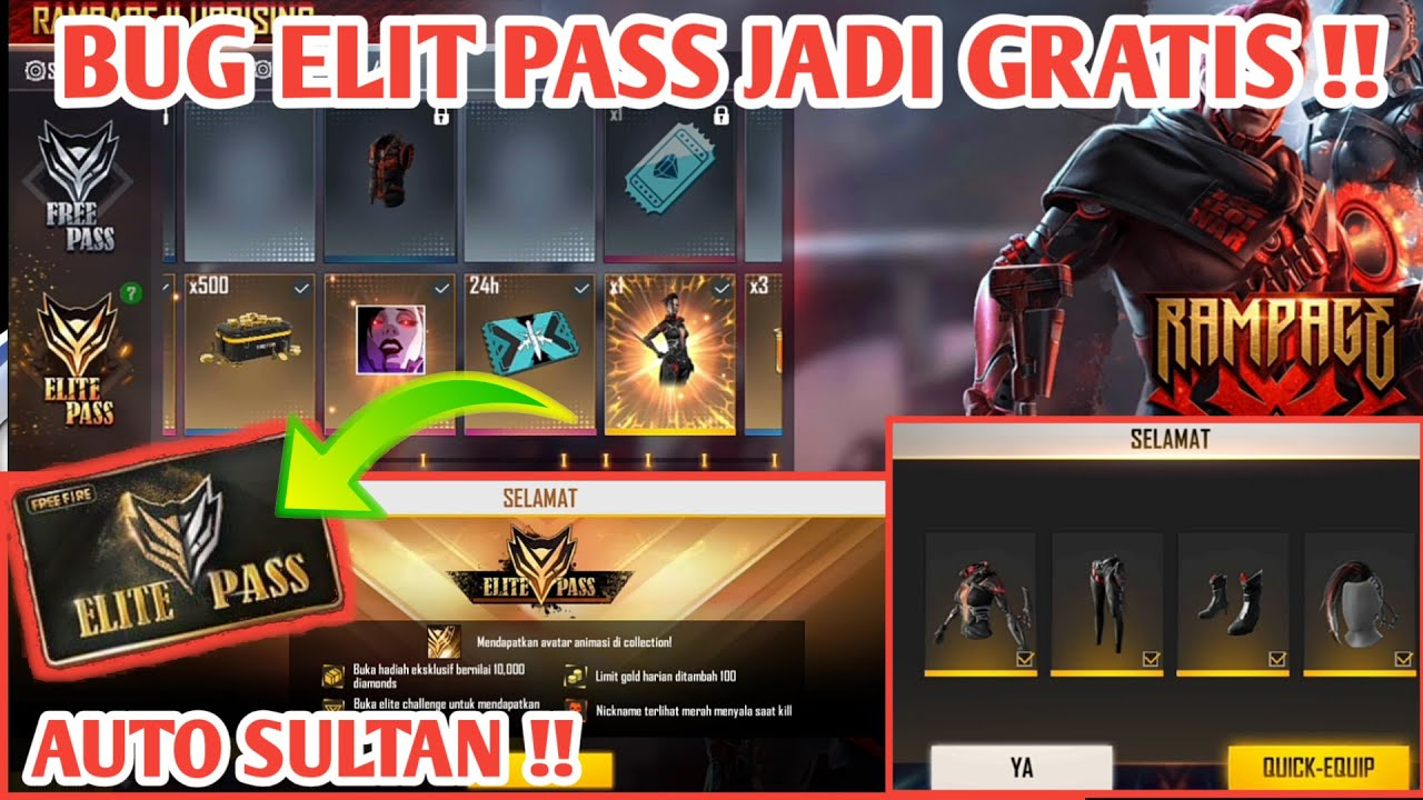 BUG ELIT PASS SESSION 26 JADI GRATIS - GARENA FREE FIRE