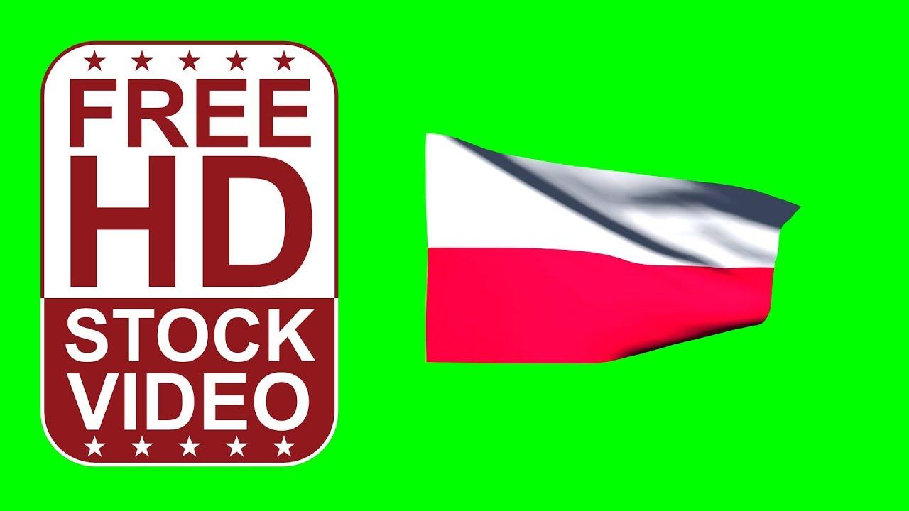 free hd video backgrounds u2013poland flag waving on green screen u2013 3d