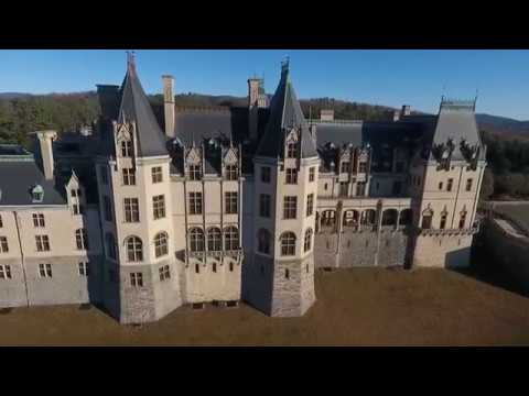 Biltmore Estate House and Gardens George Vanderbilt Drone Footage