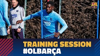 First workout to prepare the Champions League match against Lyon