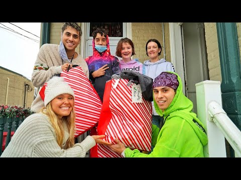 Surprising Families With Gifts On Christmas! (emotional)