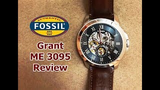 Fossil Watch Review- Grant Automatic ME 3095