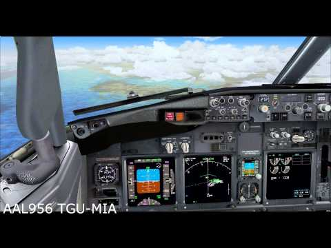 Flying Fridays Tegucigalpa (MHTG)- Miami (KMIA) PMDG 737 800