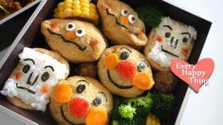 (*´ー`*) Anpanman Inari-sushi Bento アンパンマン稲荷寿司弁当の作り方 How to / Recipe