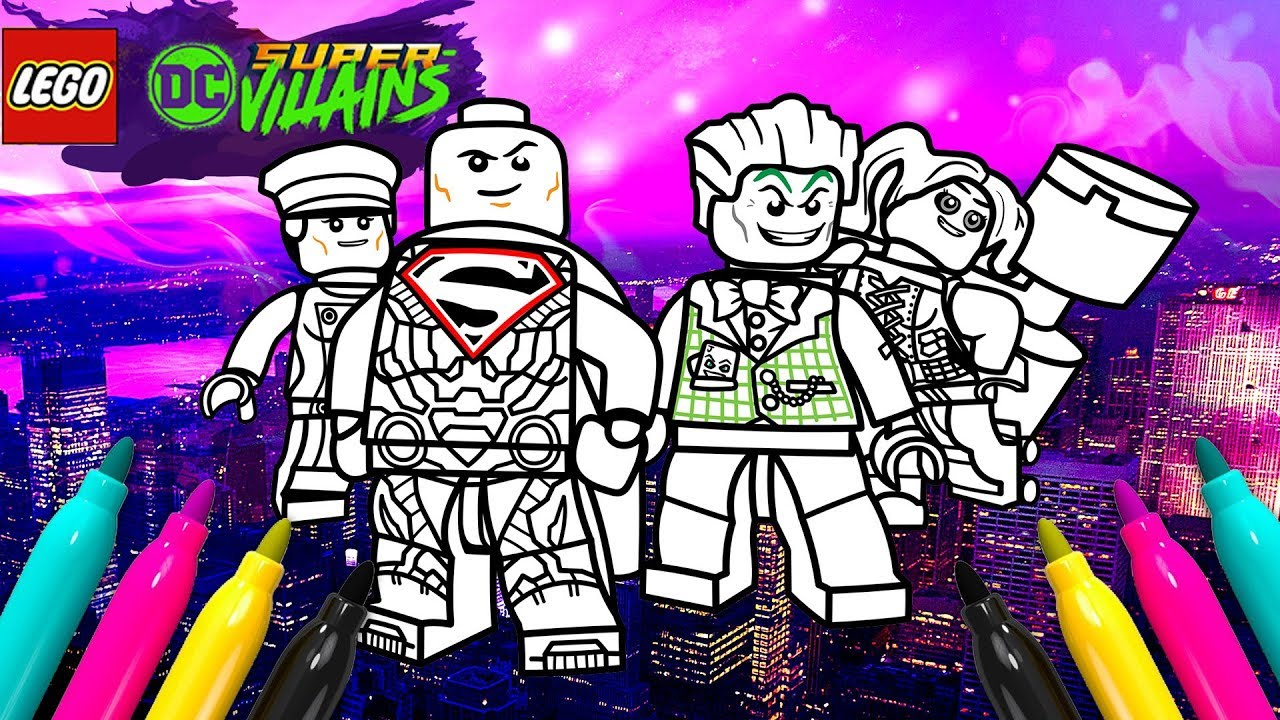 Lego Dc Super Villains Coloring Page Justice League Dark