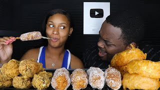 MOST POPULAR FOOD FOR ASMR Part 3 FRIED CHICKEN, ONION RINGS, KOREAN CORN DOGS | ASMR NO TALKING