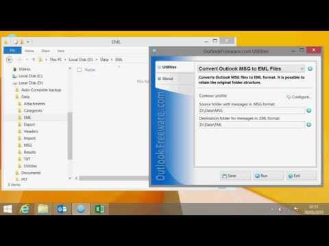 Convert Outlook Messages from MSG Format to EML Files