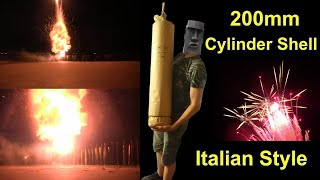 200mm Cylinder Shell - 3 Intrecci + ContraBombe