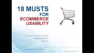 Gambar cover Experience Dynamics webinar  18 Ecommerce Musts