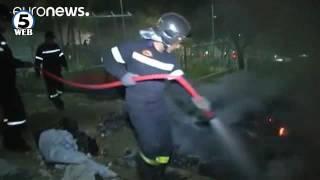 Повторно тепачки и пожар во мигрантски камп – сега на грчкиот остров Самос(, 2016-06-03T10:58:46.000Z)