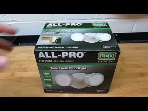 All-Pro Twin-Head Outdoor White Round LED Flood Light Review FTR1740LW