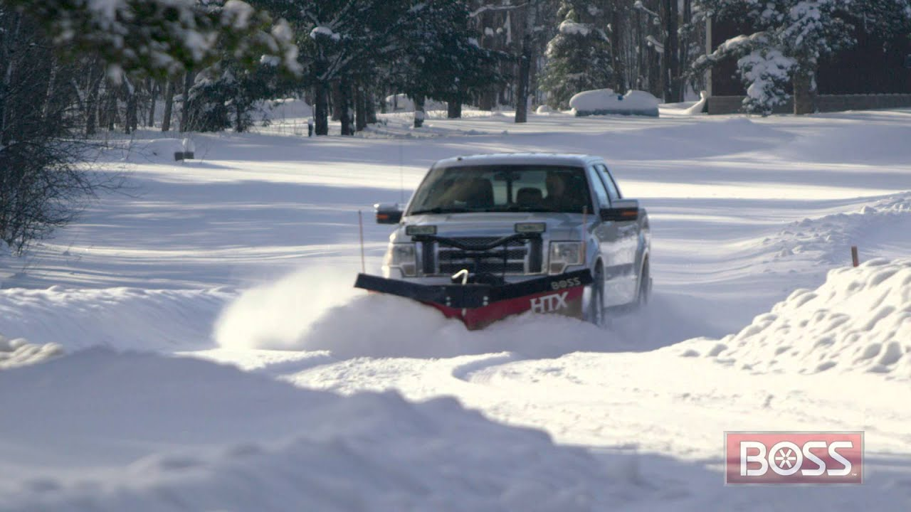 htx v plow boss snowplow  [ 1280 x 720 Pixel ]
