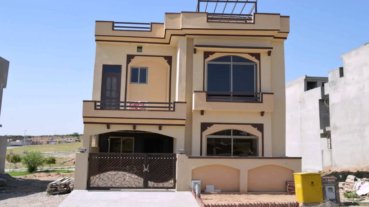 front design of 5 marla house in pakistan