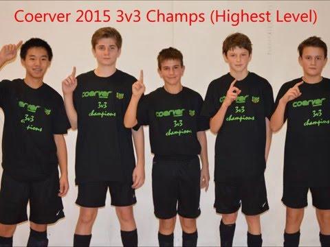 Annual Coerver 3v3 Soccer Champ-Nathan Morey, Kevon Hang, Jared Currie, Stefan Baseski, Scott Larson