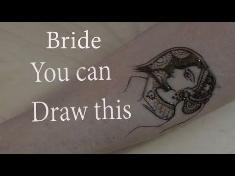 Anyone can draw bride in bridal mehendi henna design : product launch