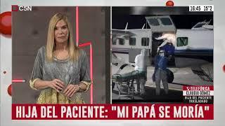 Coronavirus: Habla la hija del paciente de Mar del Plata trasladado a la Ciudad de Buenos Aires
