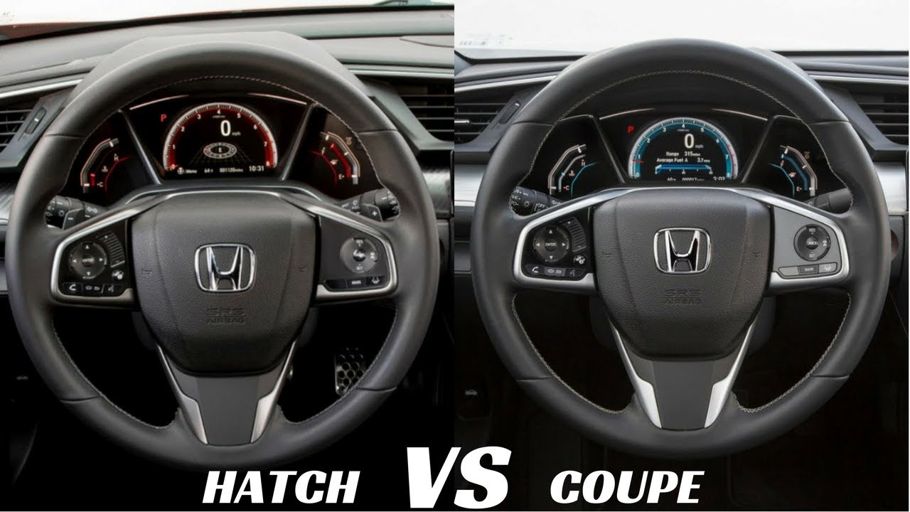 2017 Civic Coupe Vs Hatchback Interior