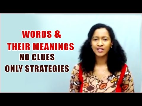 Words and Their Meanings – No Clues Only Strategies || Banking Careers