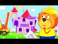 Lion Family Official Channel  Building A Playhouse  Cartoon For Kids