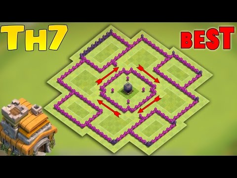 Clash of Clans(CoC) - BEST TH7 FARMING BASE 2017 + PROOF!! | 100% SUCCESS RATE AT DE PROTECTION!