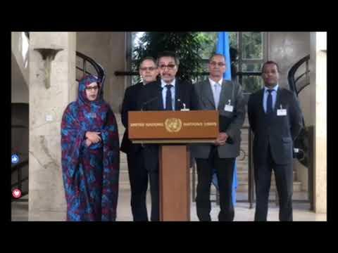 عاجل :  كلمة كبير المفاوضين الصحراويين تركز على الإستقلال و إطلاق سراح المعتقلين السياسيين.