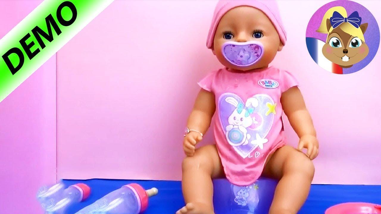 4dead6288fb5 Baby Born Interactif - 818718- Zapf création   démo et aperçu des fonctions  du poupon Français