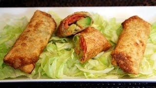 Smoked Salmon And Avocado Egg Rolls Recipe - Cookingwithalia - Episode 193