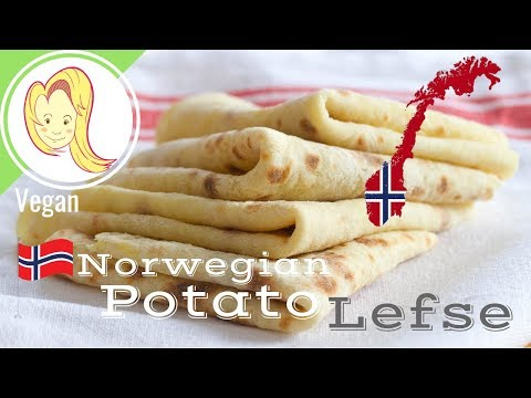 Norwegian Potato Lefse (Vegan)