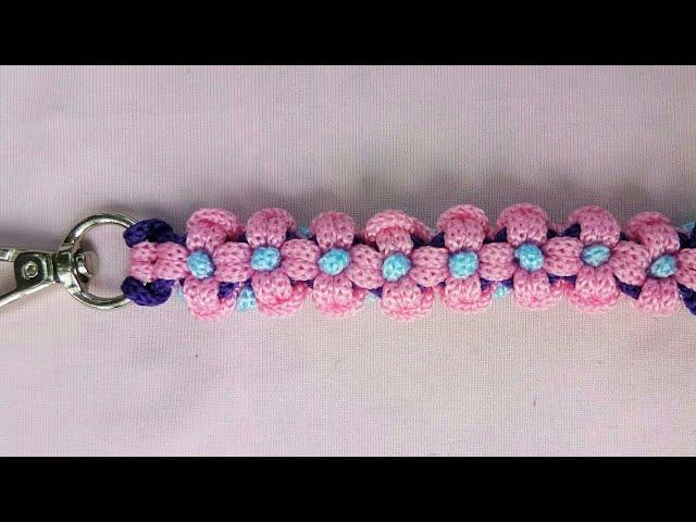 Tutorial Membuat Tali Tas Dari Tali Kur Motif Bunga