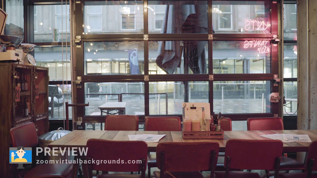 Cafe Zoom Virtual Background Preview Youtube