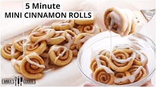 5 Minute MINI CINNAMON ROLLS ! Easy Cinnamon Rolls Recipe!