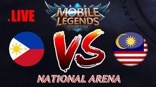 Malaysia vs Philippines National Arena & Rank Games | MOBILE LEGENDS Bang Bang