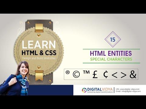 [Telugu Tutorial] HTML SPACIAL CHARACTERS - ENTITIES