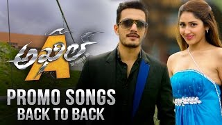 Akhil Promo Songs Back to Back || Akhil Akkineni, Sayyeshaa Saigal