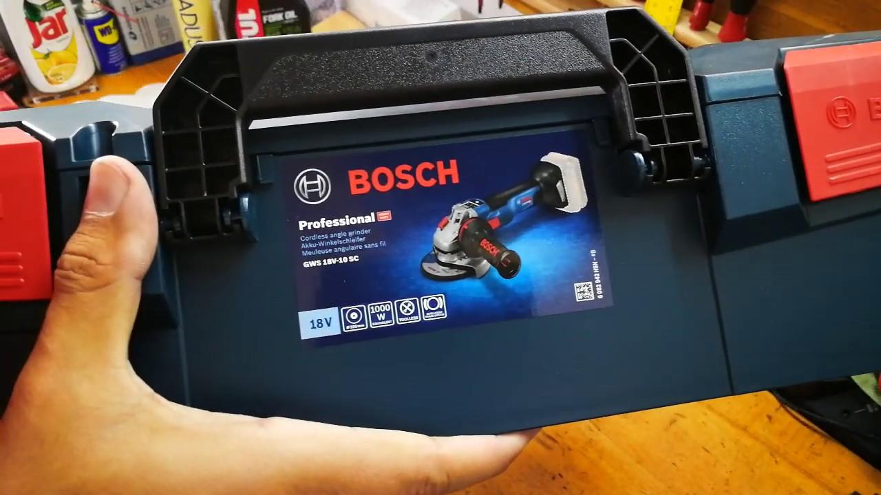Bosch Akku-Winkelschleifer GWX18V-10PC 125mm Solo 18V L-Boxx ohne Akku//Lad.