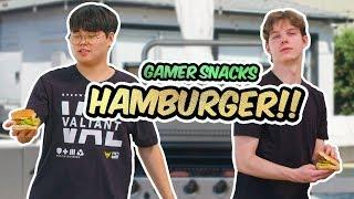 EZ HAMBURGER RECIPE! - Gamer Snacks with Kariv and Agilities