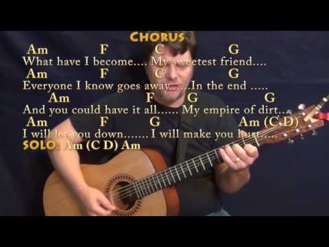 Hurt (Johnny Cash) Guitar Cover Lesson with Chords/Lyrics