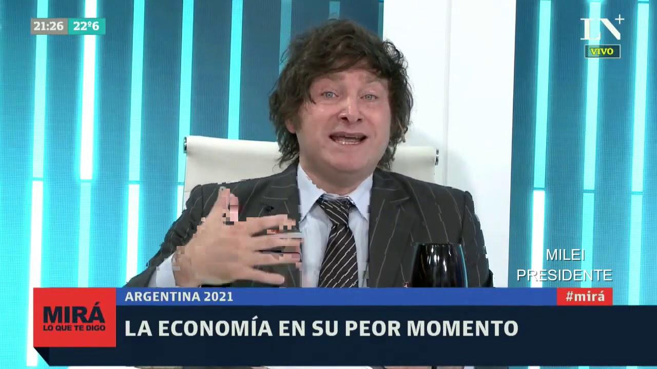 """""""Kicillof es un analfabeto económico"""" Javier Milei en LN+- 13/01/21"""