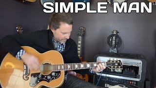 Simple Man Guitar Lesson - Acoustic Guitar - How To Play(Here's a great video guitar lesson on Simple Man by Lynyrd Skynyrd. Hope you enjoy it! Hit up http://www.yourguitarsage.com for more free guitar lessons and ..., 2013-11-08T19:16:53.000Z)