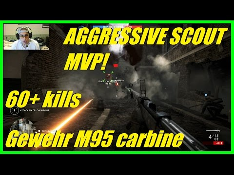 Battlefield 1- Best gun for aggressive scout! Got superior battlepack! Gewehr m95 carbine (Amiens)