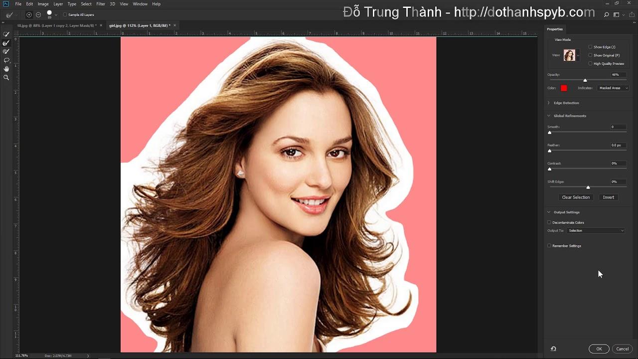 Photoshop CC 2018: Kỹ thuật tách tóc mai ra khỏi hình nền