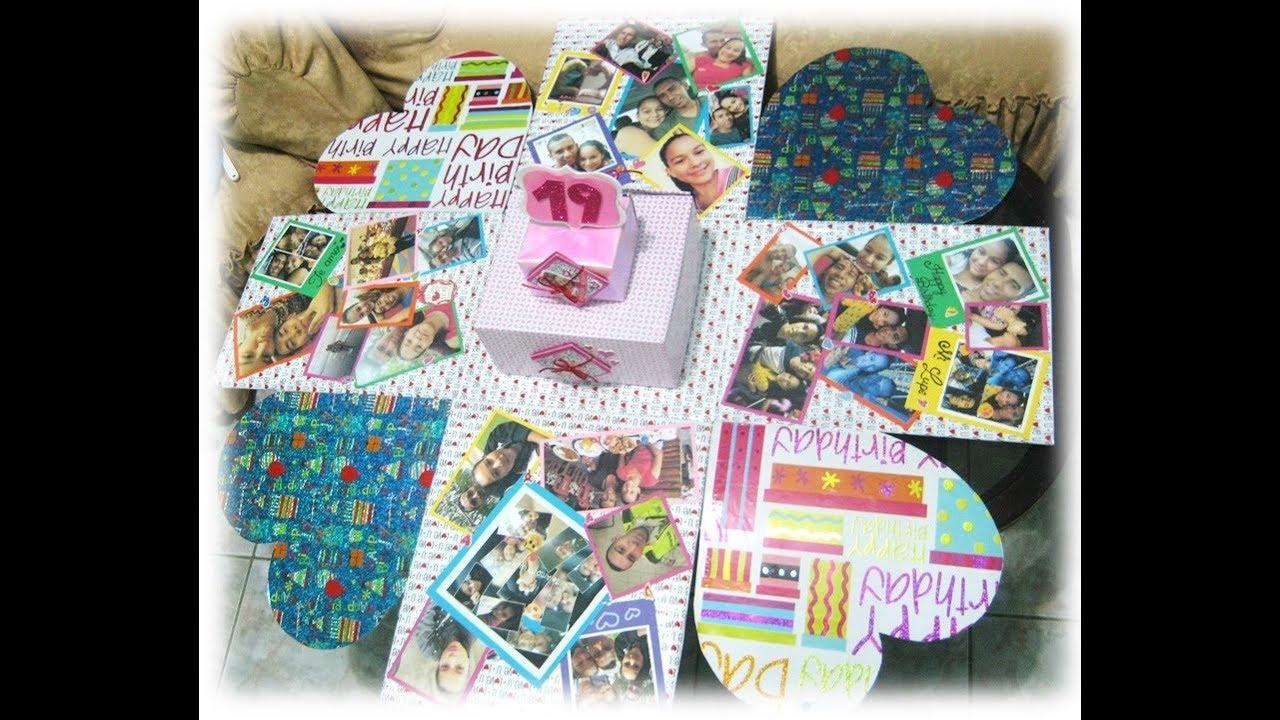 Caja scrapbook y pastel regalo sorpresa de aniversario for Sorpresas para aniversario