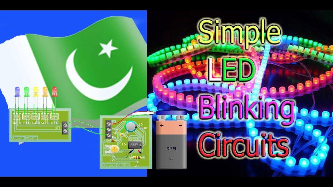 Led Blinking Circuits Using 555 Timer In Hindi Urdu Youtube 16 Flasher Circuit Ic