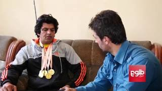Disabled Athlete On His Way To Paralympic Games