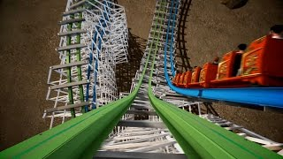 Twisted Colossus POV shots and B-Roll - INSANE!!! Six Flags Magic Mountain 2015